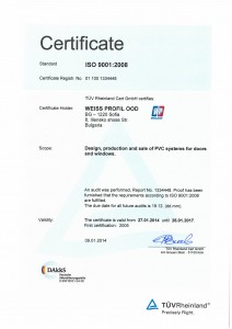 Weiss Profil ISO 9001:2008 English